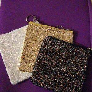 Handbags - Glitter studded wristlets